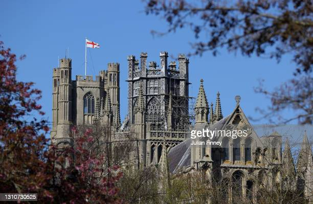 General view of Ely Cathedral ahead of The Gemini Boat Race on April 04, 2021 in Ely, England. Due to current strict social distancing measures and...