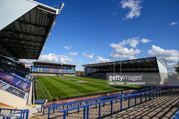General view of Emerald Headingley Stadium before the Betfred Challenge Cup Quarter Final match between Catalans Dragons and Warrington Wolves at...