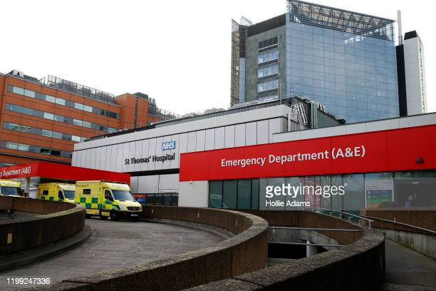 General view of emergency department at St. Thomas' Hospital on February 7, 2020 in London, England. A British national, who reportedly contracted...