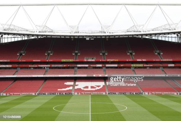 A general view of Emirates Stadium before the Premier League match between Arsenal FC and Manchester City on August 12 2018 in London United Kingdom