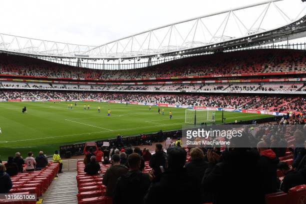 General view of Emirates Stadium before the Premier League match between Arsenal and Brighton & Hove Albion on May 23, 2021 in London, England. A...