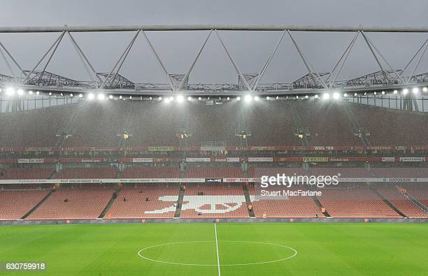 A general view of Emirates Stadium before the Premier League match between Arsenal and Crystal Palace on January 1 2017 in London England