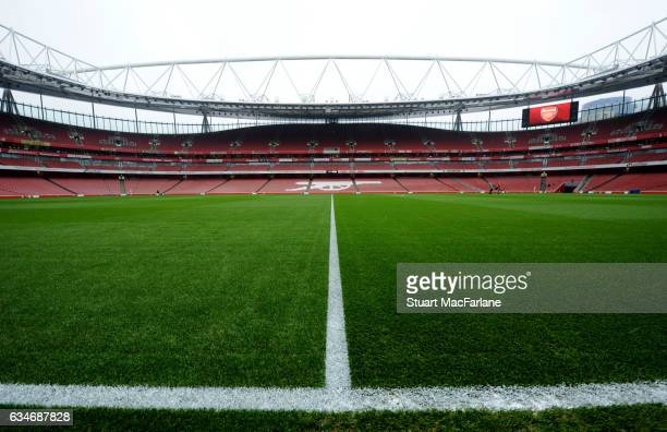 A general view of Emirates Stadium before the Premier League match between Arsenal and Hull City on February 11 2017 in London England