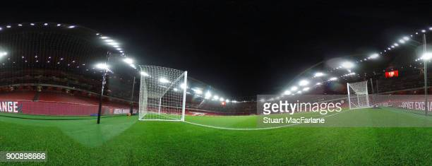 A general view of Emirates stadium before the Premier League match between Arsenal and Chelsea at on January 3 2018 in London England