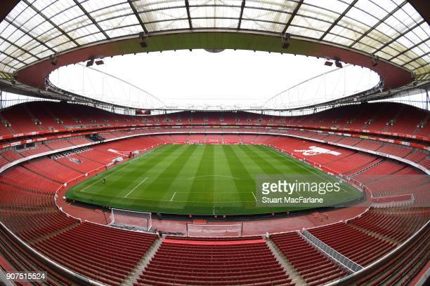 A general view of Emirates Stadium before the Premier League match between Arsenal and Crystal Palace on January 20 2018 in London England