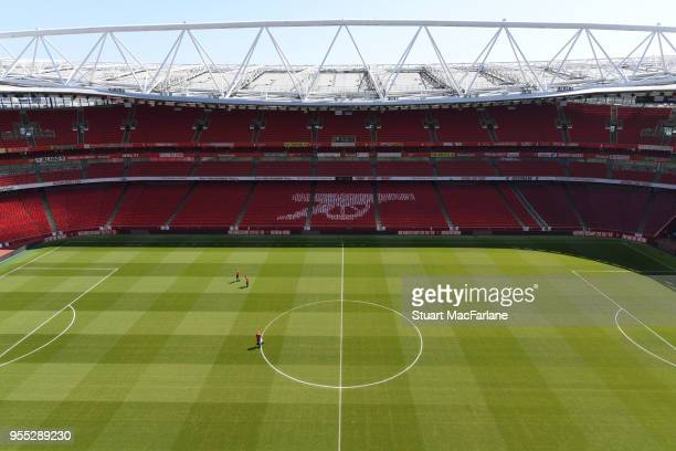 A general view of Emirates stadium before the Premier League match between Arsenal and Burnley on May 6 2018 in London England