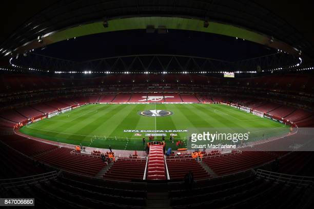 A general view of Emirates Stadium before the UEFA Europa League group H match between Arsenal FC and 1 FC Koeln on September 14 2017 in London...