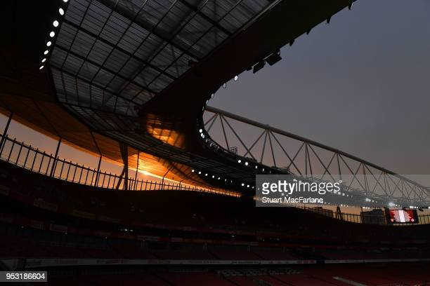 A general view of Emirates stadium during the FA Youth Cup Final 2nd Leg between Arsenal and Chelsea on April 30 2018 in London England