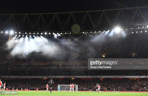 A general view of Emirates Stadium during the Premier League match between Arsenal FC and Crystal Palace on October 27 2019 in London United Kingdom
