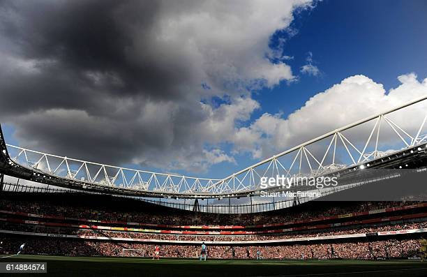 A general view of Emirates stadium during the Premier League match between Arsenal and Swansea City on October 15 2016 in London England