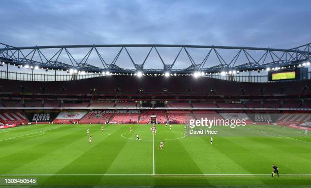 General view of Emirates Stadium the home of Arsenal during the Premier League match between Arsenal and Manchester City at Emirates Stadium on...
