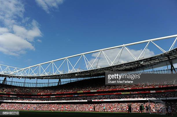 A general view of Emirates Stadium the Premier League match between Arsenal and Liverpool on August 14 2016 in London England