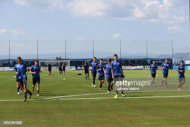 General view of Empoli FC U19 during training session on July 23 2018 in Empoli Italy