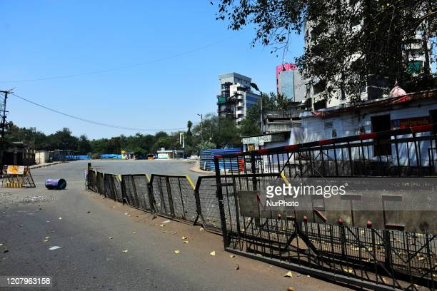 General view of empty buse stand are seen during a One day nationwide Janata curfew imposed as a preventive measure against the COVID-19 corona...