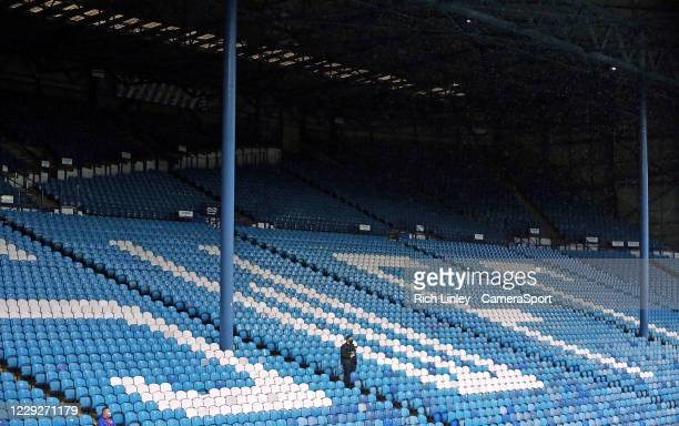 A general view of empty seats at Hillsborough Stadium home of Sheffield Wednesday during the Sky Bet Championship match between Sheffield Wednesday...