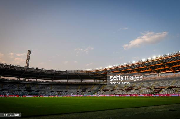General view of empty seats at the stadio Olimpico Grande Torino during the Serie A football match between Torino FC and Genoa CFC. Italian football...