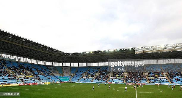 A general view of empty seats in the stands during the FA Cup 3rd round match between Coventry City and Southampton at the Ricoh Arena on January 07...