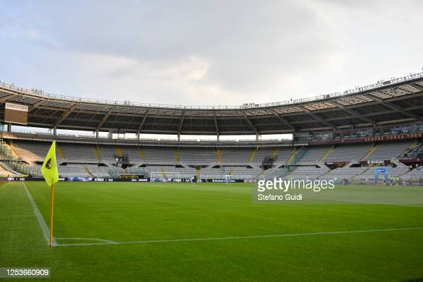 General view of empty Stadio Olimpico di Torino during the Serie A match between Torino FC and SS Lazio at Stadio Olimpico di Torino on June 30, 2020...