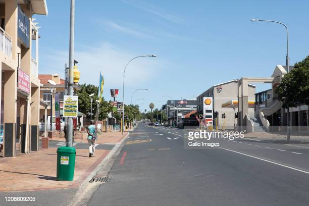 A general view of empty streets on Day 1 of national lockdown on March 27 2020 in Durbanville Cape Town South Africa According to media reports South...