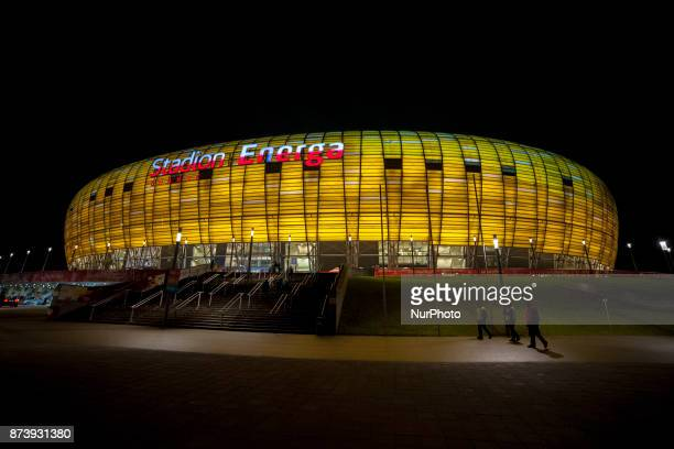 General view of Energa Stadium during the International Friendly match between Poland and Mexico at Energa Stadium in Gdansk, Poland on November 13,...