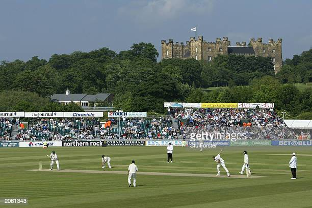 A general view of England fielding against Zimbabwe during the second day of the second npower Test match between England and Zimbabwe on June 6 2003...