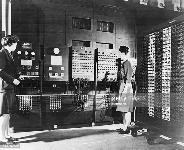 General view of 'Eniac' the first general purpose electronic calculator