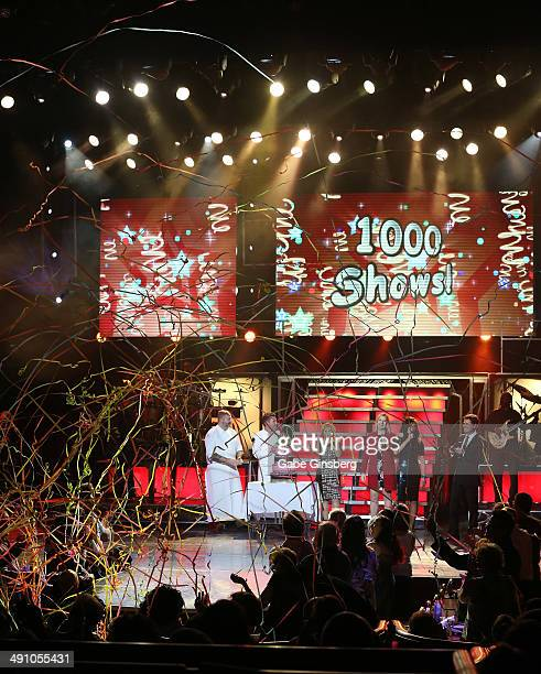 A general view of entertainers Donny Osmond and Marie Osmonds 1000th show at Flamingo Las Vegas on May 15 2014 in Las Vegas Nevada