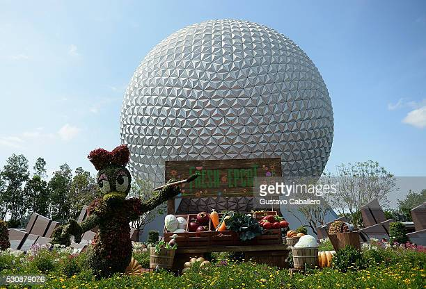 General view of Epcot International Flower And Garden Festival at Epcot Center at Walt Disney World on May 11 2016 in Orlando Florida