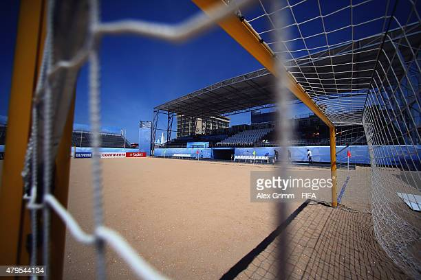 General view of Espinho Stadium ahead of the FIFA Beach Soccer World Cup Portugal 2015 on July 5, 2015 in Espinho, Portugal.