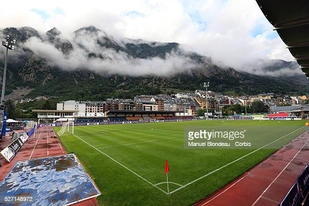 General view of Estadi Comunal d Andorra la Vella prior to the FIFA World Cup 2014 group D qualifying match between Andorra and Netherlands on...