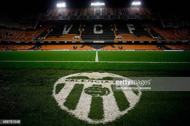 General view of Estadi de Mestalla pitch before the La Liga match between Valencia CF and FC Barcelona on November 30 2014 in Valencia Spain