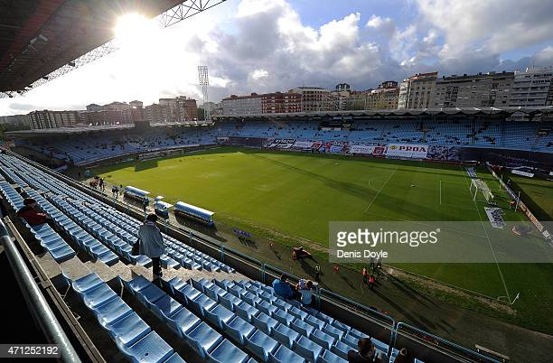 General view of Estadio Balaidos before the La Liga match between Celta Vigo and Real Madrid CF at Estadio Balaidos on April 26 2015 in Vigo Spain