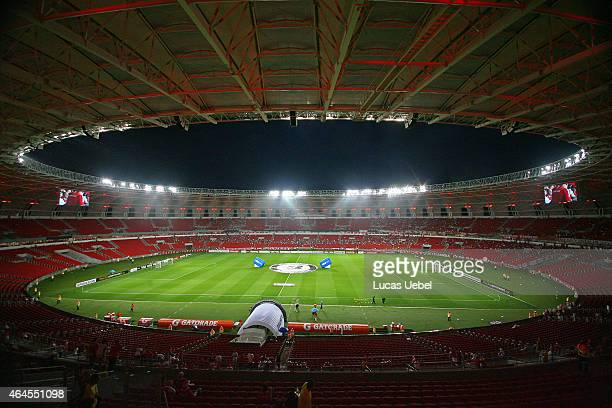 General view of Estadio Beira Rio before the match between Internacional and Universidad de Chile as part of Copa Bridgestone Libertadores 2015 at...