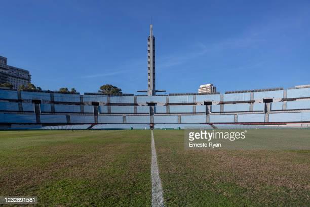 General view of Estadio Centenario on May 14, 2021 in Montevideo, Uruguay. CONMEBOL confirmed Estadio Centenario will host the finals of the 2021...