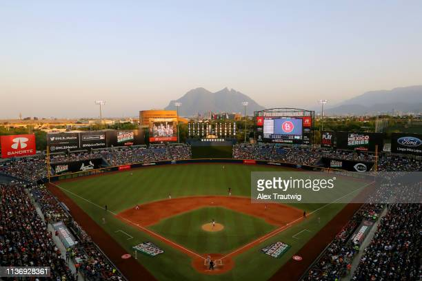 General view of Estadio de Beisbol Monterrey during the game between the St. Louis Cardinals and the Cincinnati Reds on Saturday, April 13, 2019 in...