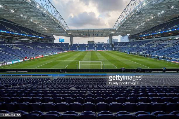 General view of Estadio do Dragao before the UEFA Champions League Round of 16 Second Leg match between FC Porto and AS Roma at Estadio do Dragao on...