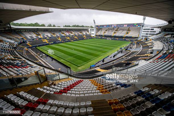 General view of Estadio Dom Afonso Henriques prior the UEFA Nations League SemiFinal matches on June 4 2019 in Guimarães Portugal