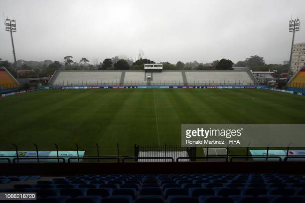 General view of Estadio Domingo Burgeño Miguel ahead of the FIFA U-17 Women's World Cup Uruguay 2018 on November 11, 2018 in Maldonado, Uruguay.