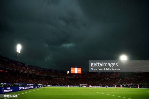 A general view of Estadio General Pablo Rojas during the final of Copa CONMEBOL Sudamericana 2019 between Colon and Independiente del Valle at...