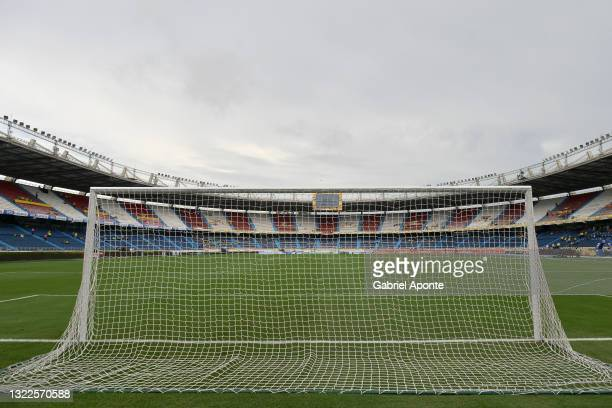 General view of Estadio Metropolitano before a match between Colombia and Argentina as part of South American Qualifiers for Qatar 2022 on June 08,...
