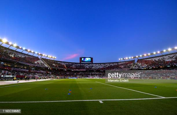 General view of Estadio Monumental Antonio Vespucio Liberti before a match between River Plate and Cerro Porteño as part of Quarter Finals of Copa...