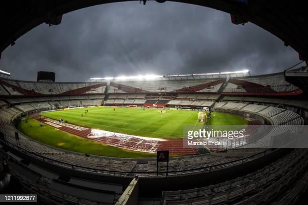 General view of Estadio Monumental Antonio Vespucio Liberti before a Group D match between River Plate and Deportivo Binacional as part of Copa...