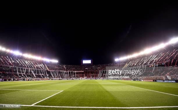 General view of Estadio Monumental Antonio Vespucio Liberti during a match between River Plate and Cerro Porteño as part of Quarter Finals of Copa...