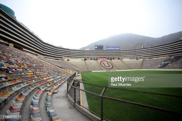General view of Estadio Monumental de Lima on November 08 2019 in Lima Peru As a result of the protests and social unrest that started on October 18...