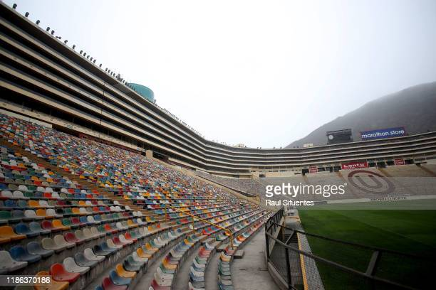General view of Estadio Monumental de Lima on November 08, 2019 in Lima, Peru. As a result of the protests and social unrest that started on October...