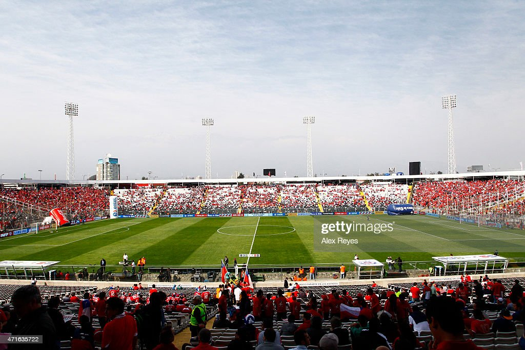 General view of Estadio Monumental during a match between Chile and Colombia September 11 , 2011 in Santiago, Chile.