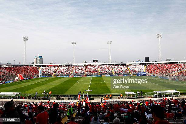 General view of Estadio Monumental during a match between Chile and Colombia September 11 2011 in Santiago Chile