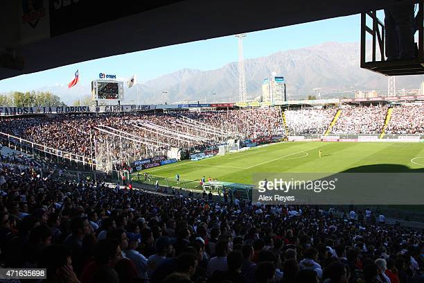 General view of Estadio Monumental during a match between Colo Colo and Universidad Catolica 2011 in Santiago Chile