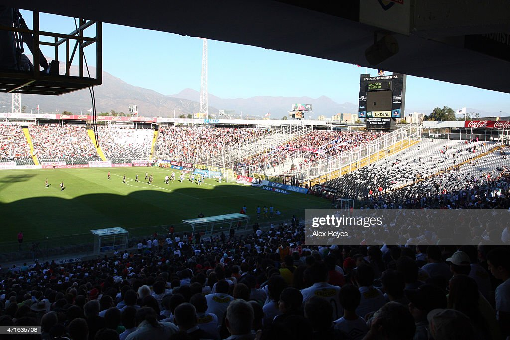 General view of Estadio Monumental during a match between Colo Colo and Universidad Catolica , 2011 in Santiago, Chile.