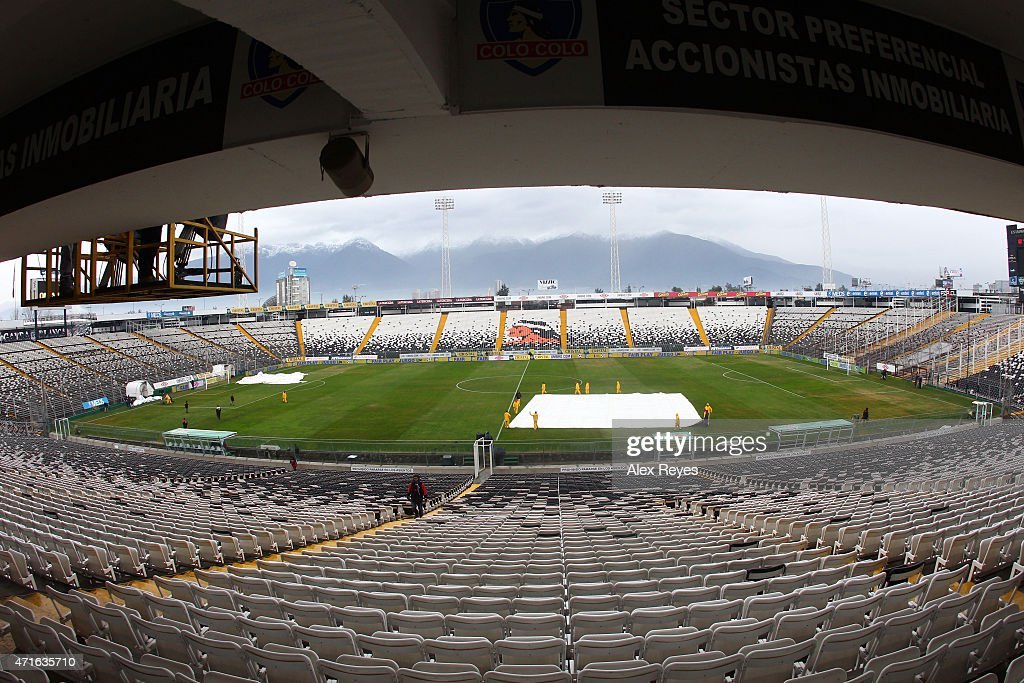 General view of Estadio Monumental during a match between Colo Colo and U de Chile , 2011 in Santiago, Chile.